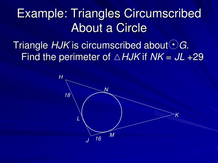 Example: Triangles Circumscribed About a Circle