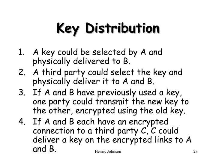 Key Distribution