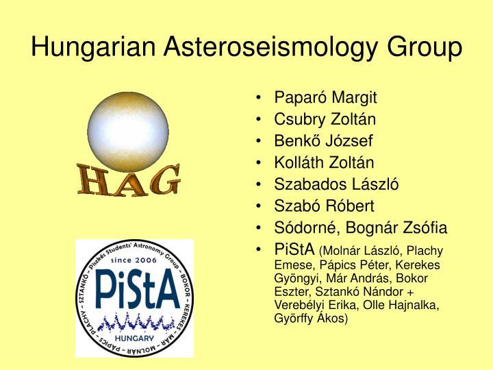 Hungarian Asteroseismology Group