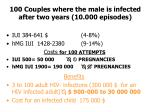 100 couples where the male is infected after two years 10 000 episodes
