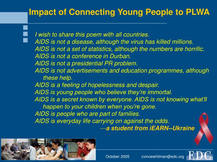 Impact of Connecting Young People to PLWA