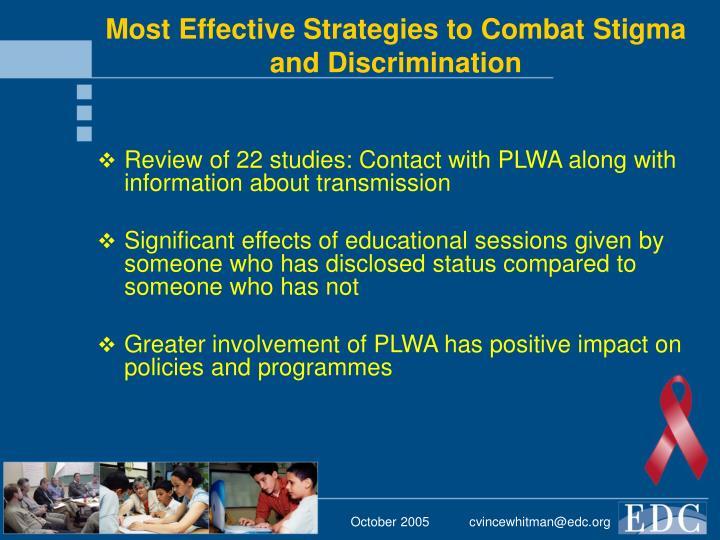 Most Effective Strategies to Combat Stigma and Discrimination