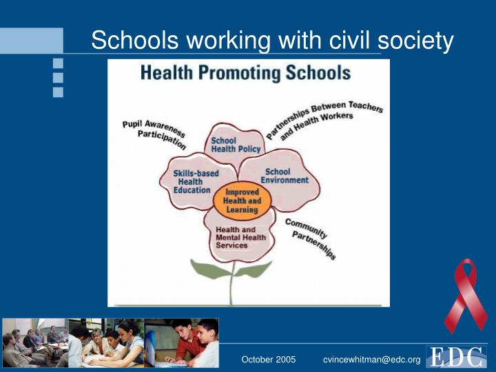 Schools working with civil society