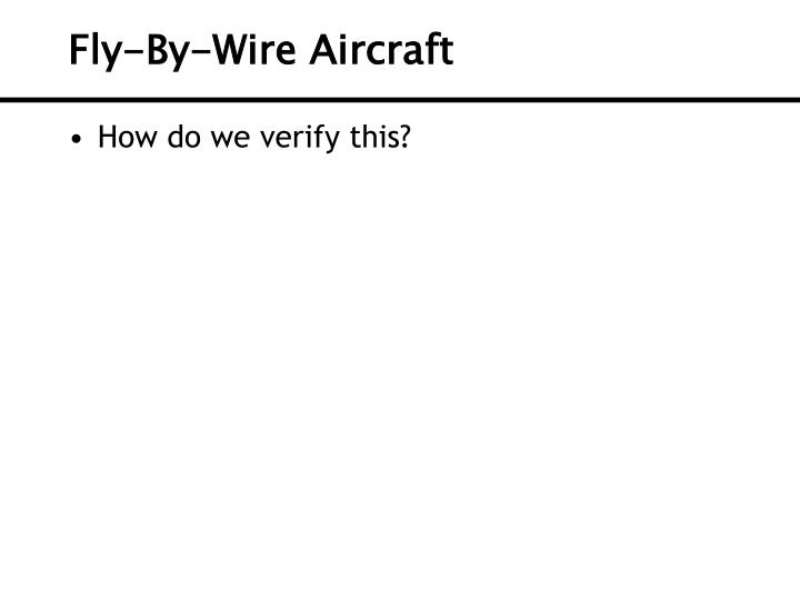 Fly-By-Wire Aircraft