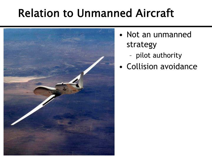 Relation to Unmanned Aircraft