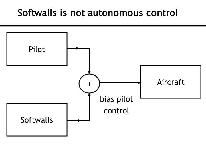 Softwalls is not autonomous control