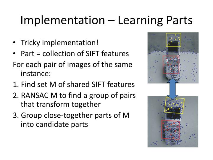 Implementation – Learning Parts