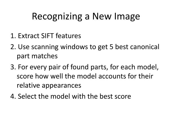 Recognizing a New Image
