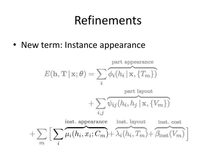 Refinements