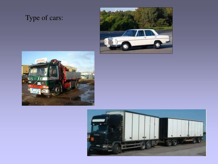 Type of cars: