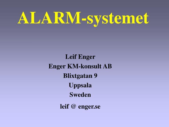 ALARM-systemet