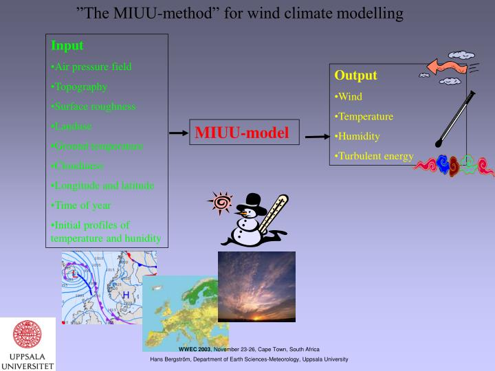 """""""The MIUU-method"""" for wind climate modelling"""