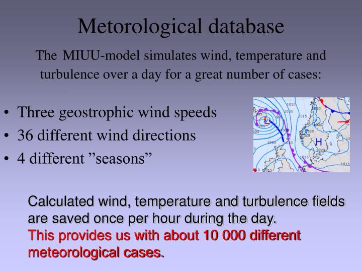 Metorological database