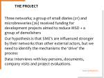 the p the project roject idea data and methodology