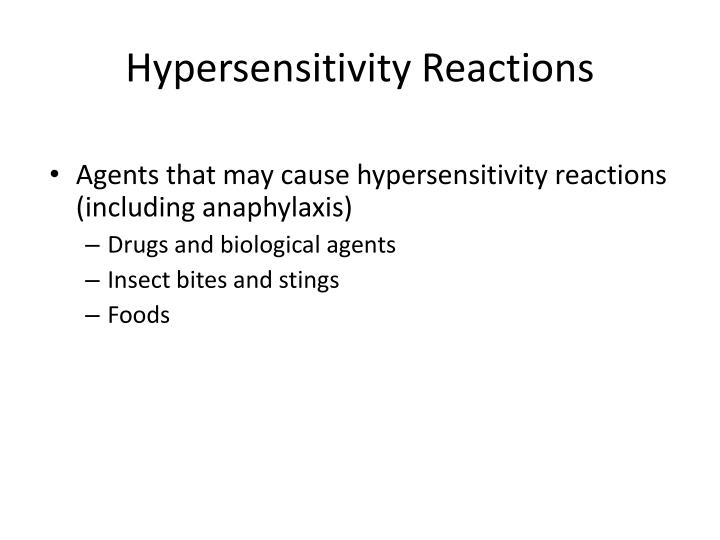 Hypersensitivity Reactions