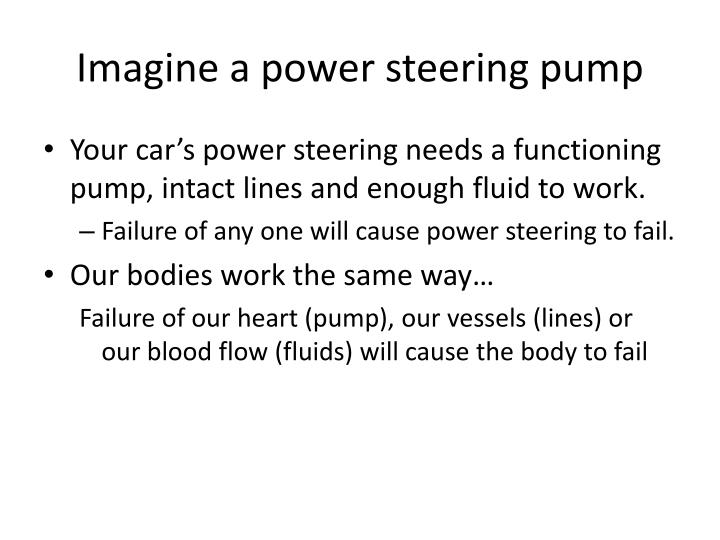 Imagine a power steering pump