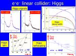 e e linear collider higgs