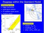 progress within the standard model