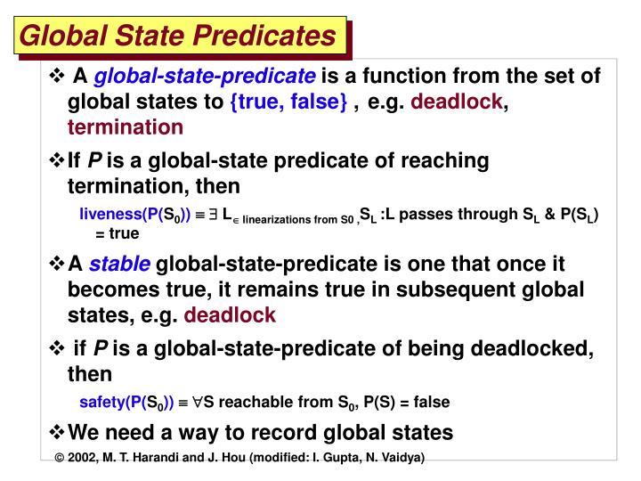 Global State Predicates