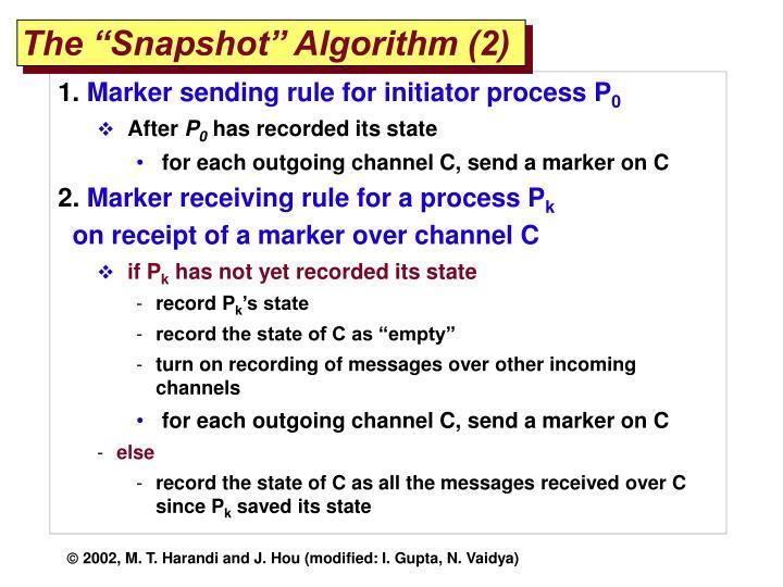 "The ""Snapshot"" Algorithm (2)"