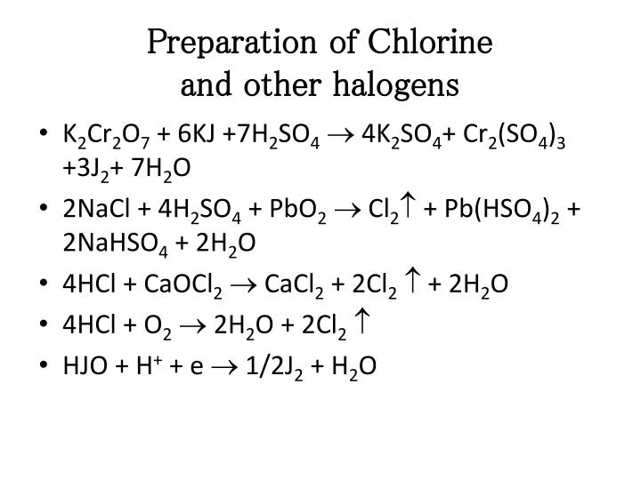 Preparation of Chlorine