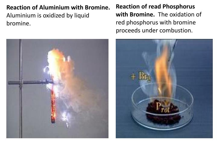 Reaction of Aluminium with Bromine.