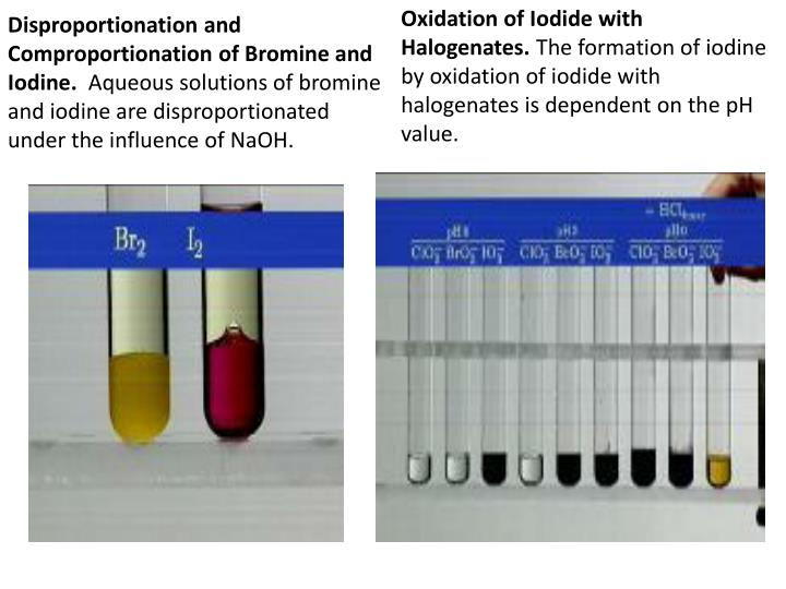 Disproportionation and Comproportionation of Bromine and Iodine.