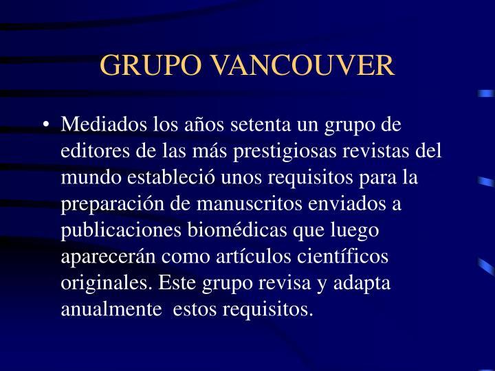 GRUPO VANCOUVER