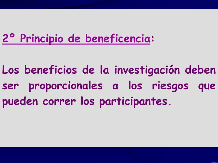 2º Principio de beneficencia