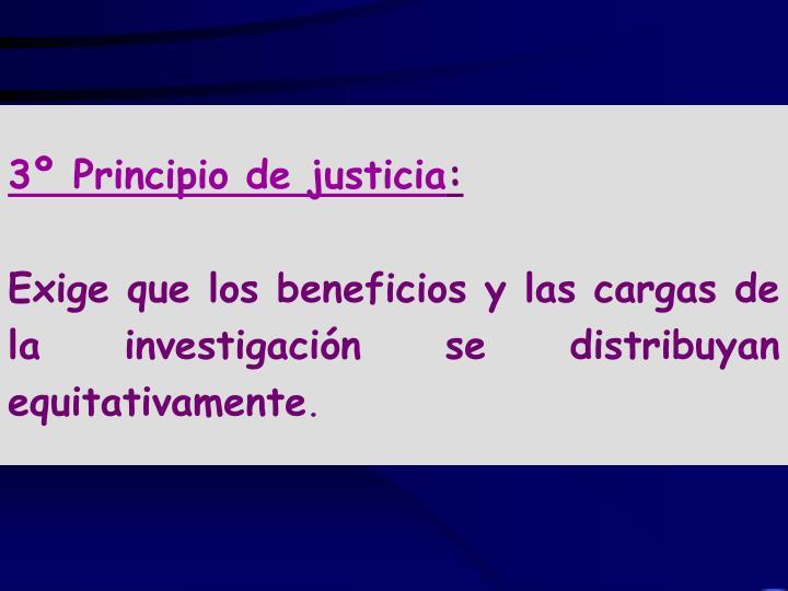 3º Principio de justicia