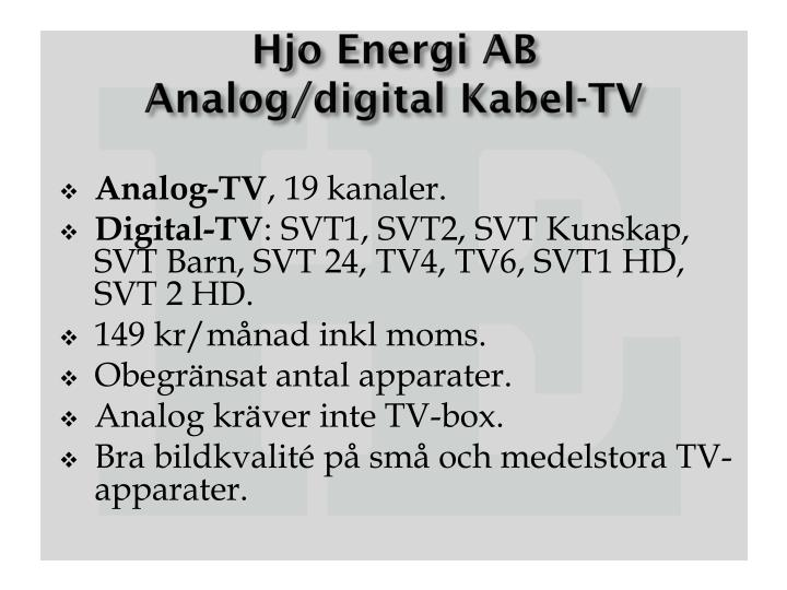 Hjo energi ab analog digital kabel tv