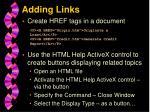 adding links