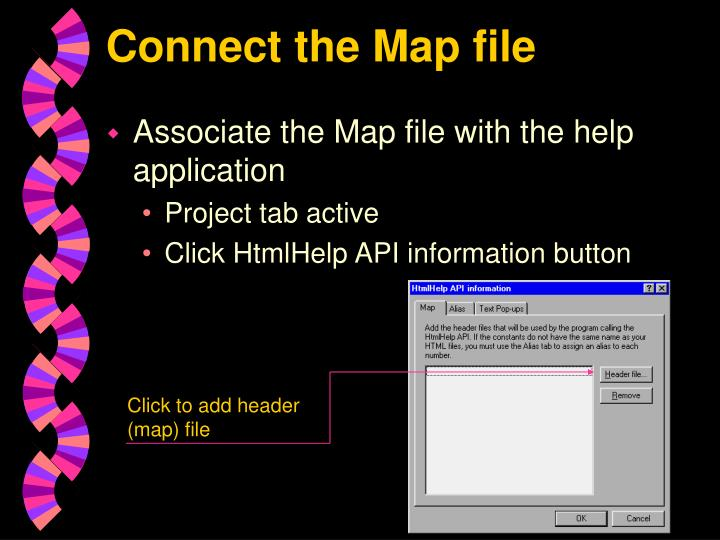 Connect the Map file