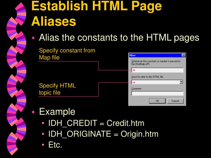 Establish HTML Page Aliases