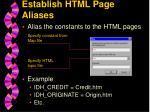 establish html page aliases