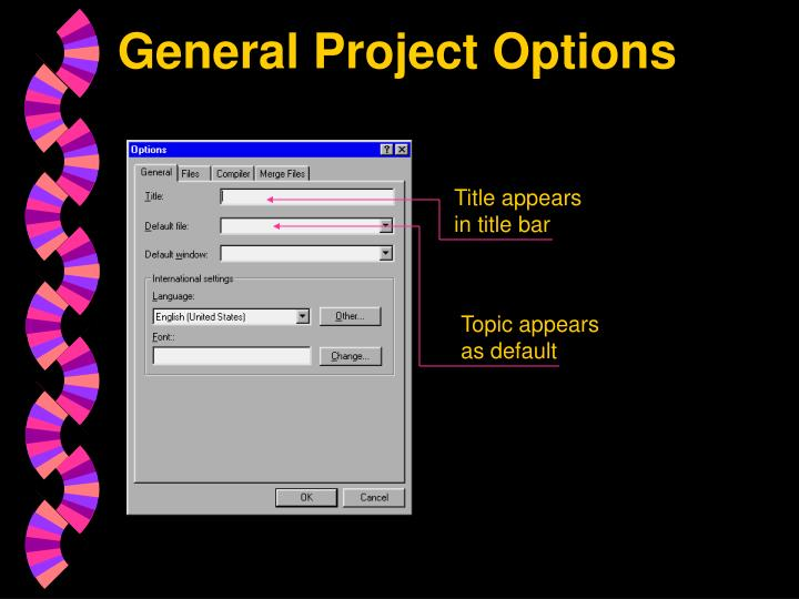 General Project Options