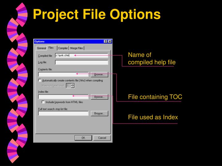 Project File Options