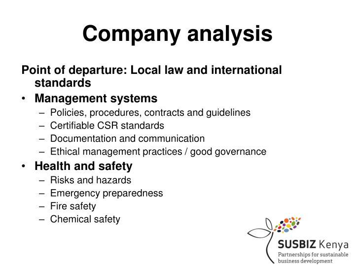 Company analysis