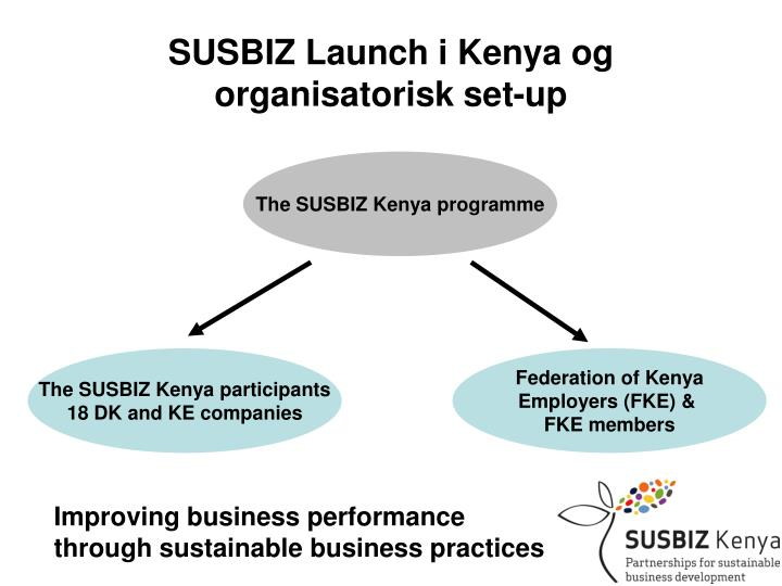 SUSBIZ Launch i Kenya og organisatorisk set-up