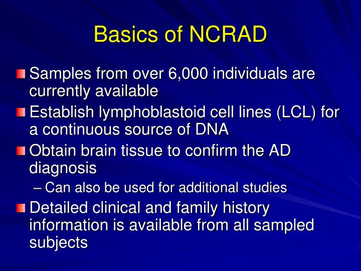 Basics of NCRAD