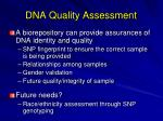 dna quality assessment