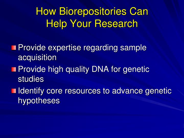 How Biorepositories Can