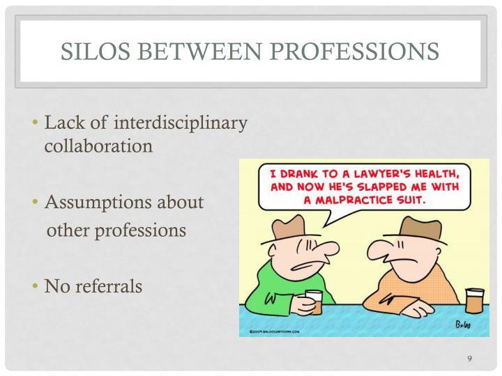 Silos Between Professions