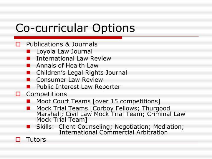 Co-curricular Options