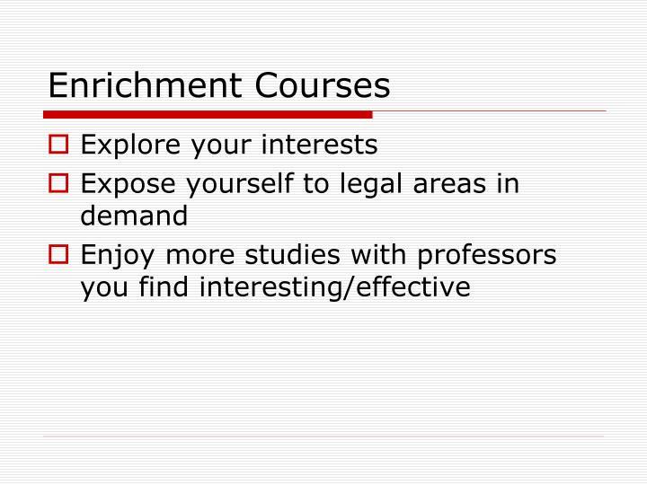 Enrichment Courses