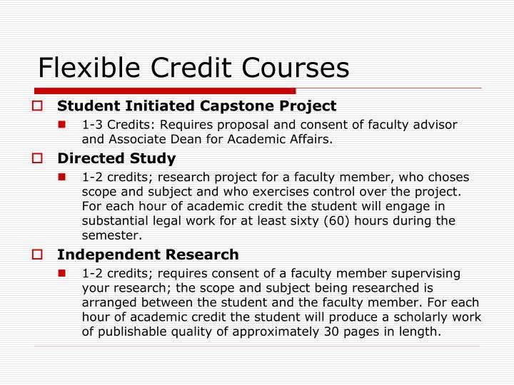 Flexible Credit Courses
