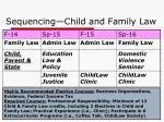 sequencing child and family law