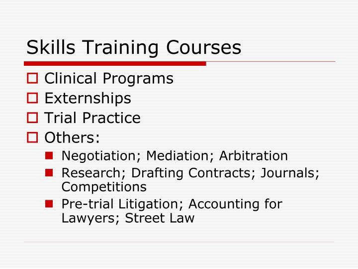 Skills Training Courses