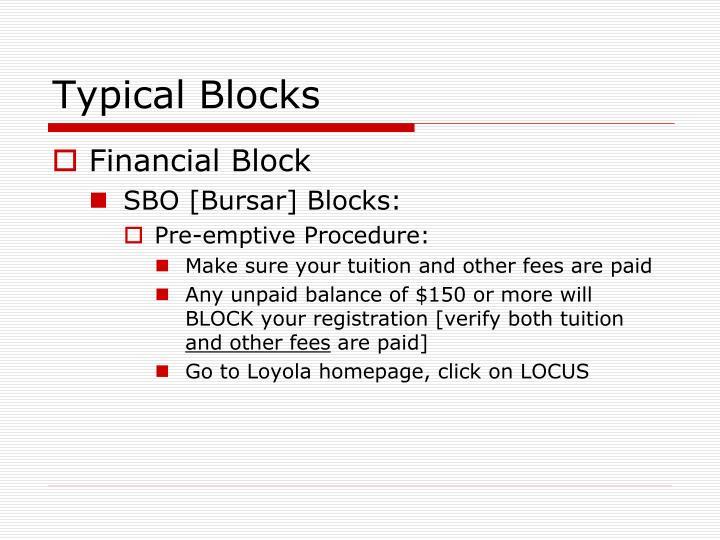Typical Blocks