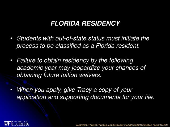 FLORIDA RESIDENCY